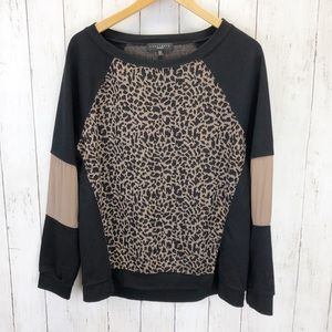 Sanctuary Leopard Colorblock Sweater Sz L ::II1